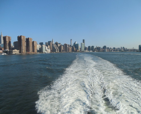 Ferry departing NYC