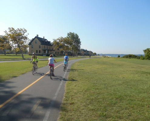 Sandy Hook New Jersey beach bike path