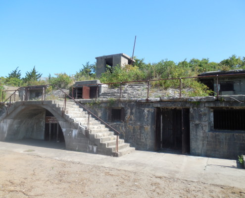 Sandy Hook military base ruins