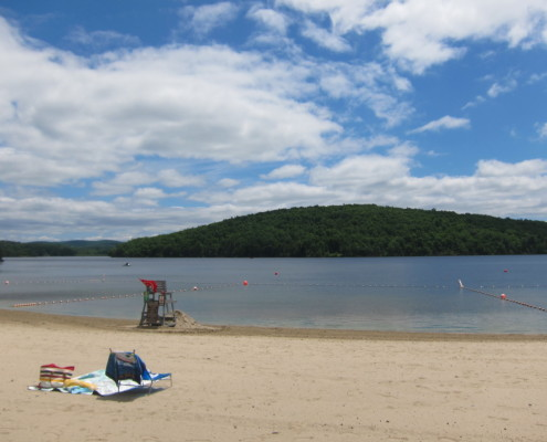 Hudson Valley lake beach