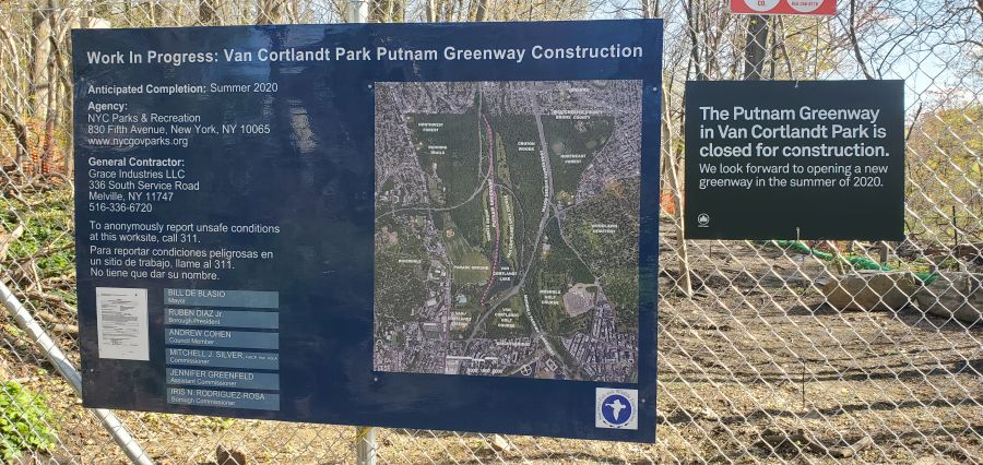 Putnam Greenway Construction Sign