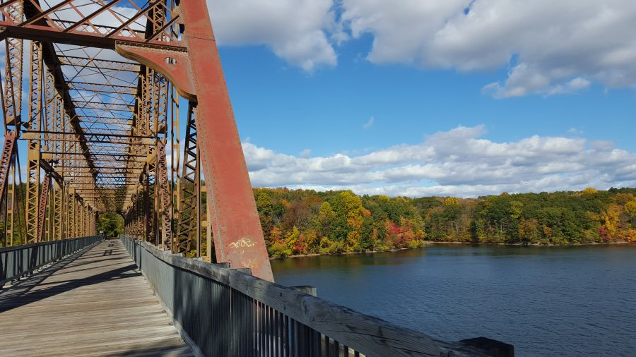 North County Trailway Bridge in Autumn