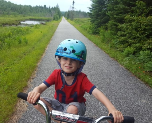 Kid friendly Quebec bicycle tours
