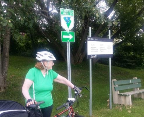 Route Verte Sign
