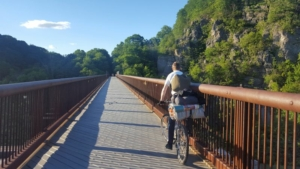 The Rosendale Trestle is another high bridge on the Empire State Trail