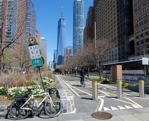 Empire State Trail south endin NYC