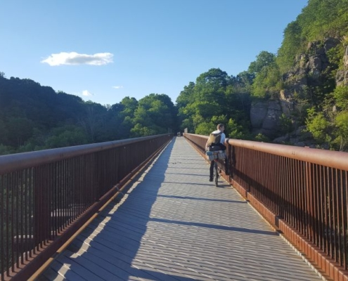 Rosendale Trestle bike path